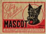 Mascot Safety Matches Impregnated